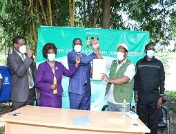 NEMA signs PC with the ministry